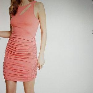 NWT. Olive Ruched Dress